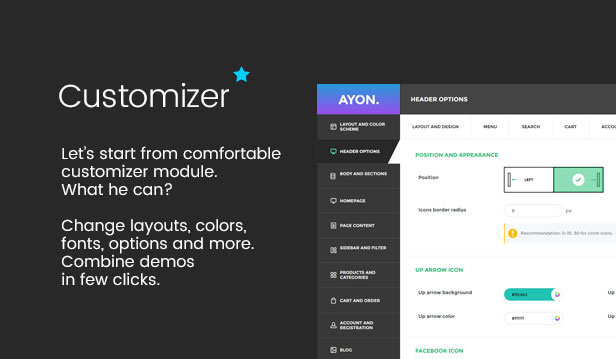 Customizer module